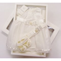 Special occasion boxed diamante & pearl dress gift set