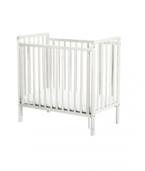 Saplings Spacesaver Cot in White includes foam mattress