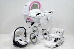 Scarlett retro baby pram 2in1 travel system - Wicker