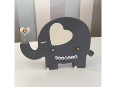 Cute handmade personalised Elephant nursery Accessory