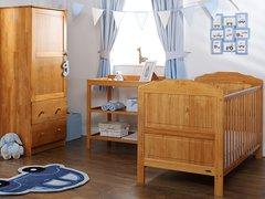 Beverley 3 piece nursery furniture set - white or pine