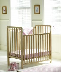 Saplings Spacesaver Cot in Natural Pine includes foam mattress