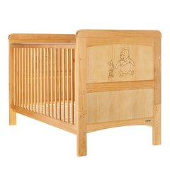Obaby Winnie the Pooh Deluxe Cot Bed - Country Pine Trim