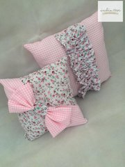 Ditsy Floral and Gingham Cushion Set - various colours available