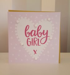 Pom-Pom Baby Girl Greeting Card