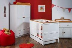 Newark 3 piece nursery furniture set - white or pine