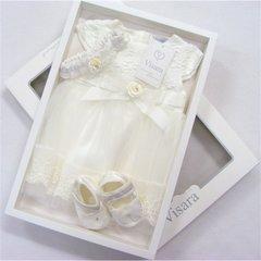 Visara ivory 3 piece dress set