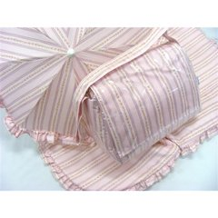 Pink stripes & roses pushchair set