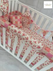 Shabby Chic Floral and Patchwork Cot Bedding Set