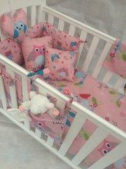 Pink Owl Cot Bedding