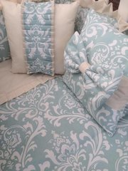 Pair of beautiful filled damask cushions