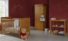 Winnie the Pooh Single 3 piece nursery furniture set - White or Pine