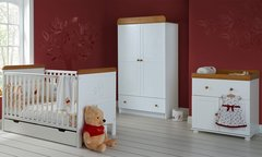 Winnie the Pooh Double 3 piece nursery furniture set - White or Pine