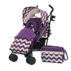 Obaby Zeal Stroller Bundle - ZigZag Purple