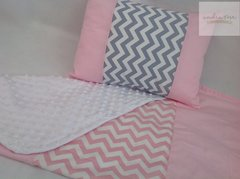 Snuggly Chevron Blankie and Cushion Set