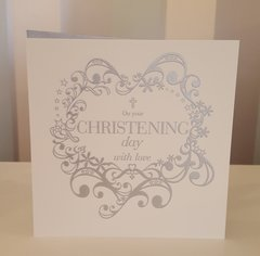 On your Christening Day Greeting Card
