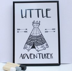 A4 Little Adventurer Poster (with/without frame)