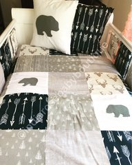 Winter Wonderland patchwork cot bedding