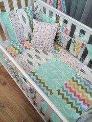 Bright & Funky Flamingo Patchwork Cot Bedding Set