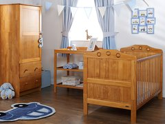 Lisa 3 piece nursery furniture set - white or pine