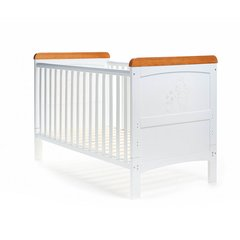 Obaby Winnie the Pooh Deluxe Cot Bed - White with Country Pine Trim