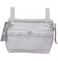 Rosy Fuentes Grey/Silver Pushchair Bag