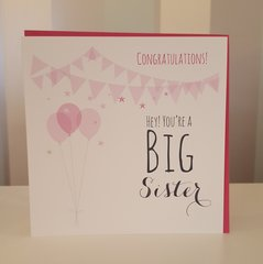 Hey! You're A Big Sister Greeting Card