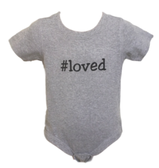 Infant Short-Sleeve Hashtag Onesie - Loved