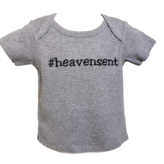 Infant Short-Sleeve, Lap Shoulder Hashtag Tee - Heavensent