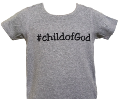 Infant Short-Sleeve, Lap Shoulder Hashtag Tee - Child of God