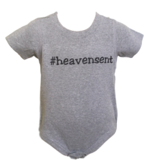 Infant Short-Sleeve Hashtag Onesie - Heavensent