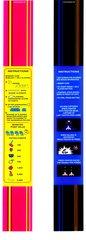 Ms Pac Man / Galaga Bezel 25th Anniversary Instuction Card Strips