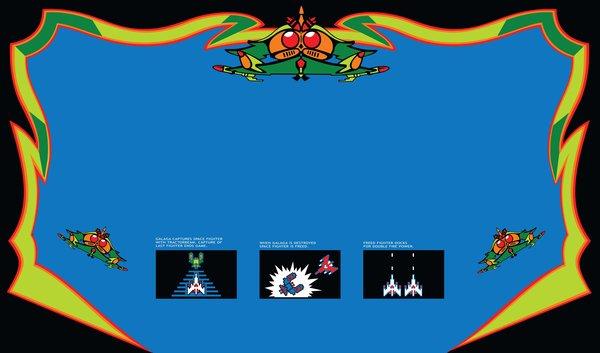 Galaga Custom Control Panel Overlay 313 Arcade