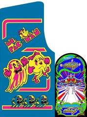 Ms Pac Man / Galaga 25th Anniversary Edition Side Art Set (2pcs)