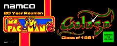 Ms Pac Man / Galaga 25th Anniversary Edition Marquee Namco
