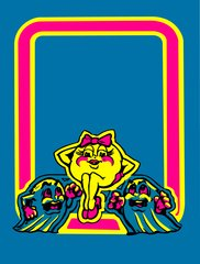 Ms Pac Man Front Kickplate art