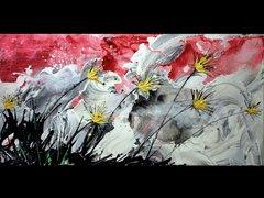 "18x24"" Gusty Flowers print"