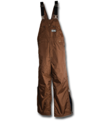 DAN'S HIGH-N-DRI BROWN WATERPROOF BIBS