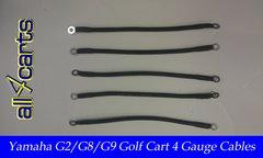 Yamaha G2/G9 36 Volt Battery Cable Set | 4 Gauge Upgrade