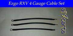 Ezgo RXV Battery Cable Set - 4 Gauge Upgrade