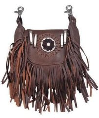 Fringe Hook-On Leather Purse