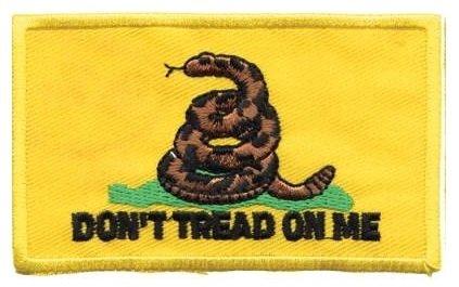 "Gadsden flag - ""Don't Tread On Me"" Patch"