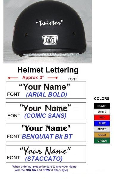 Helmet Lettering