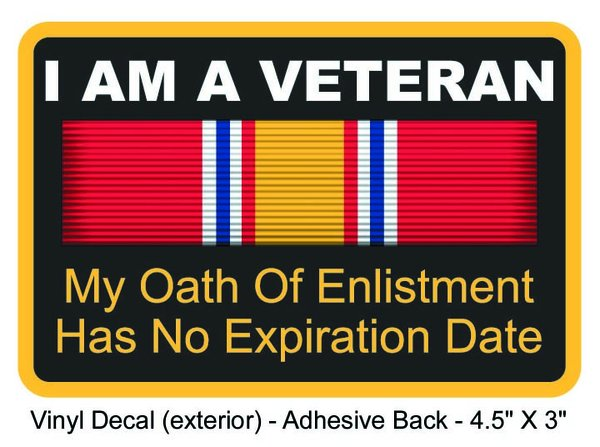 Oath of Enlistment Decal