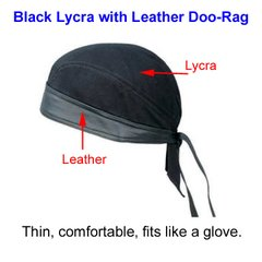 Lycra with Leather Doo-Rag