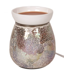 Natural crackle effect electric wax warmer