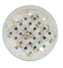 Cream & Gold Candle Plate