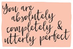 Gift Postcard 'you are absolutely completely & utterly perfect'