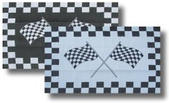 REVERSIBLE RV/PATIO MAT W/UV STABILIZER (CHECKERED FLAG DESIGN)