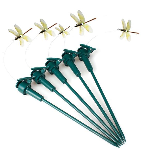 Solar Powered Dancing Flying Dragonfly Garden Decoration